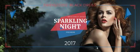 Plantilla de diseño de Sparkling night party Annoucement Facebook cover