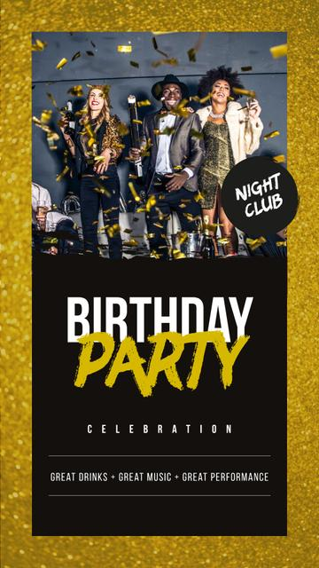 Szablon projektu People dancing at Birthday Party Instagram Story