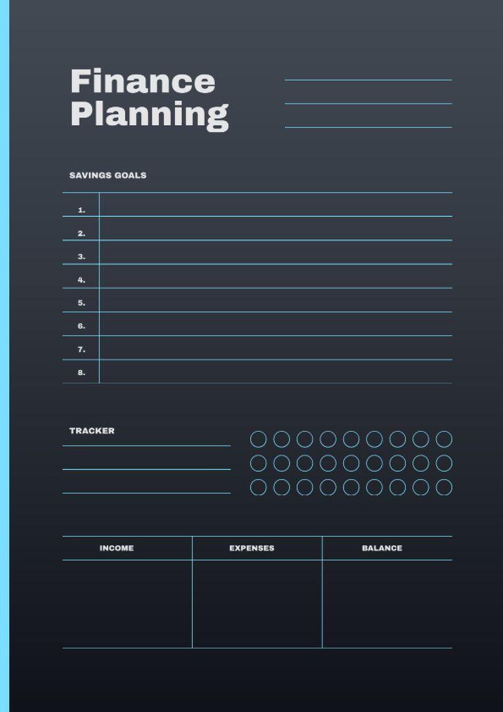 Finance Planning in blue Schedule Planner – шаблон для дизайна