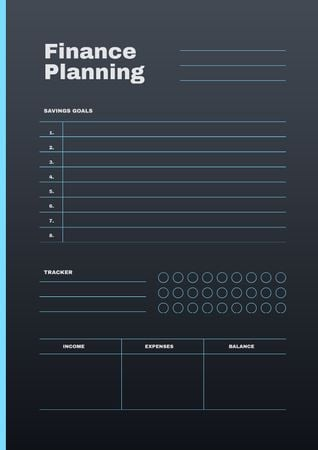 Plantilla de diseño de Finance Planning in blue Schedule Planner