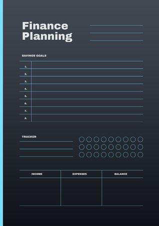 Finance Planning in blue Schedule Planner Modelo de Design