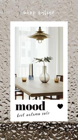 Autumn Sale Announcement with Minimalistic Interior Instagram Story – шаблон для дизайна