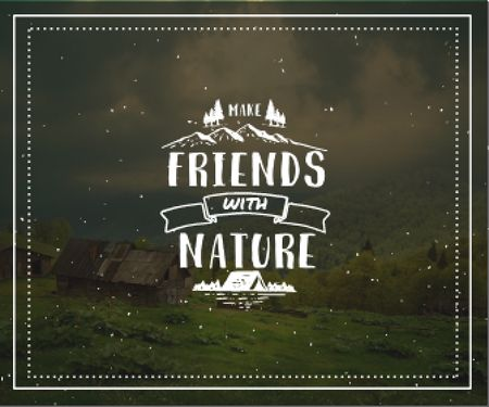 Plantilla de diseño de Make friends with nature poster Large Rectangle