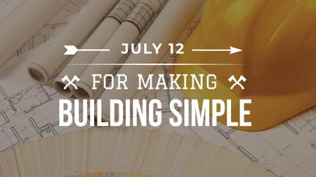 Plantilla de diseño de Building Event with Blueprints FB event cover