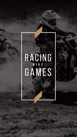Racing Bike Games with Bikers Instagram Story Modelo de Design