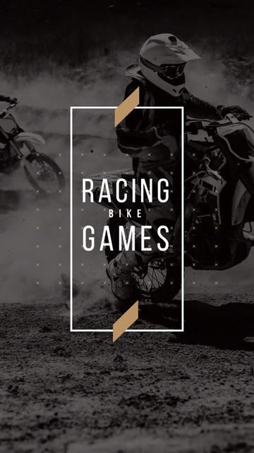 Racing Bike Games with Bikers Instagram Story – шаблон для дизайну