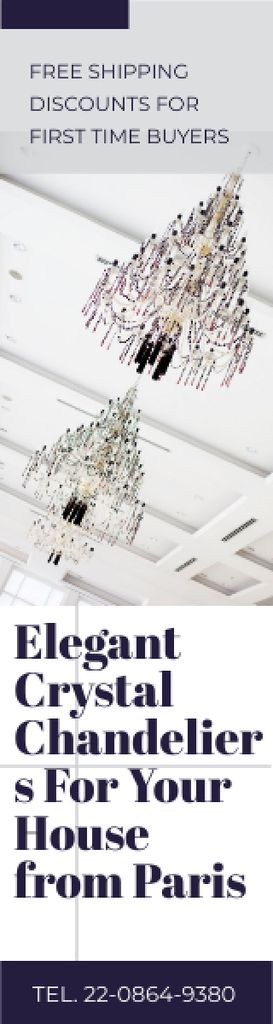 Elegant Crystal Chandeliers Offer in White — Maak een ontwerp