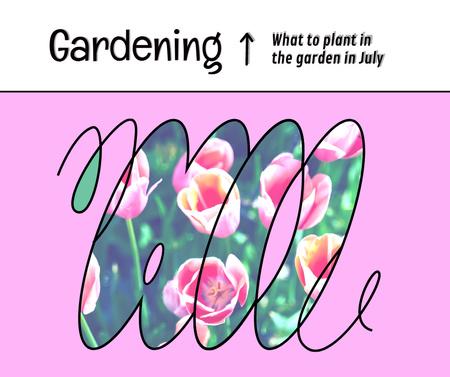 Designvorlage Beautiful Pink Garden Flowers für Facebook
