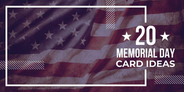 USA Memorial Day Image – шаблон для дизайна