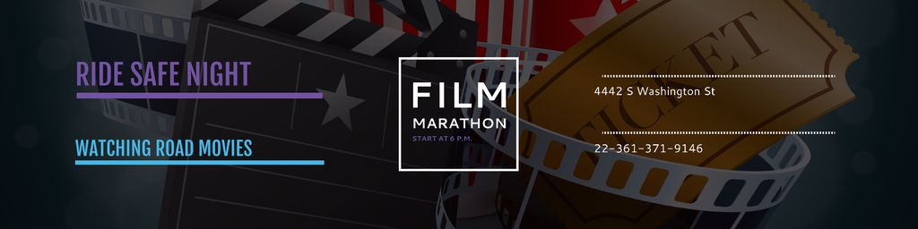 Film marathon night Announcement — Crear un diseño