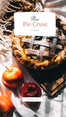 Plantilla de diseño de Apple Pie recipe Instagram Story