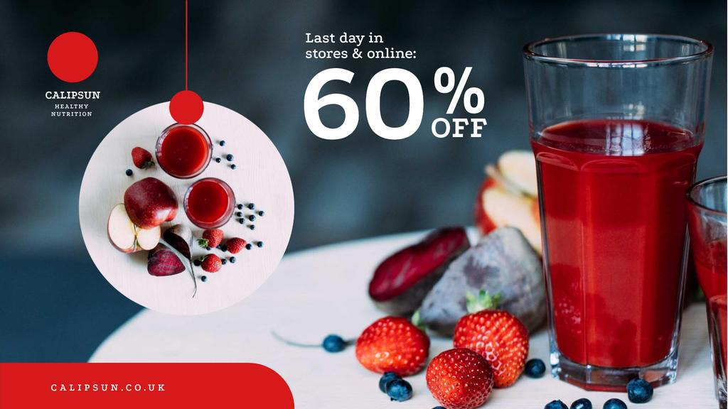 Healthy Nutrition Offer with Glass of Juice — Crear un diseño