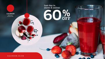Healthy Nutrition Offer with Glass of Juice