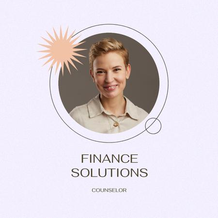 Ontwerpsjabloon van Instagram van Smiling Woman Finance Counselor