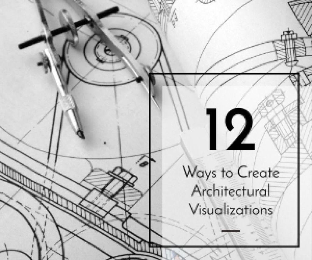 Architectural visualizations banner Medium Rectangle – шаблон для дизайну