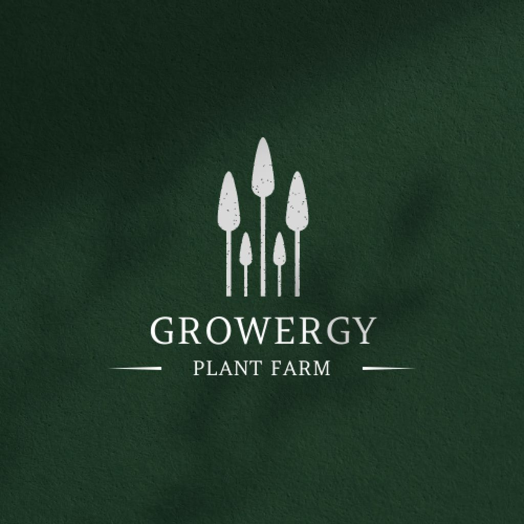 Plantilla de diseño de Plant Farm Ad with Trees Illustration Logo