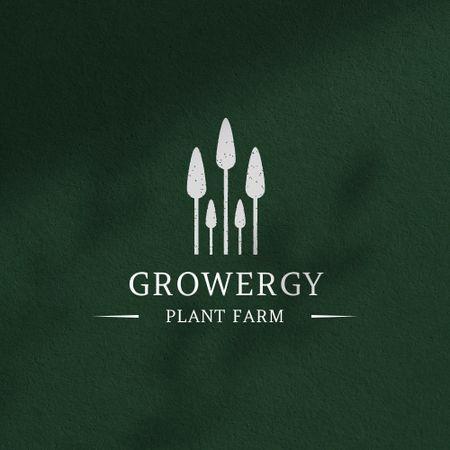 Plant Farm Ad with Trees Illustration Logo – шаблон для дизайну