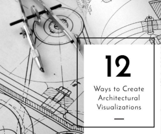Architectural visualizations banner Medium Rectangle Design Template