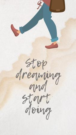 Template di design Motivational Phrase with Walking Man Illustration Instagram Story