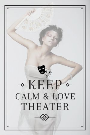 Theater Quote Woman Performing in White Tumblr Modelo de Design