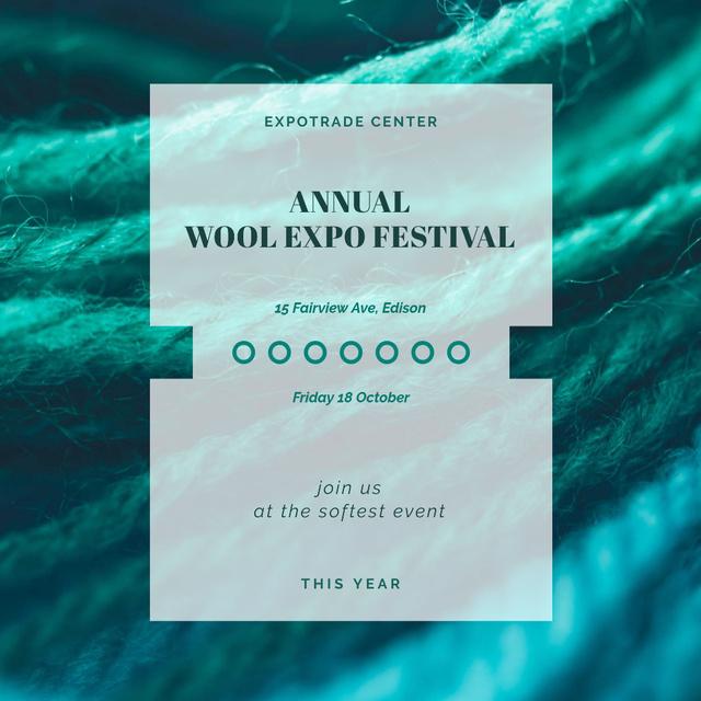 Annual wool festival Announcement Instagram – шаблон для дизайну