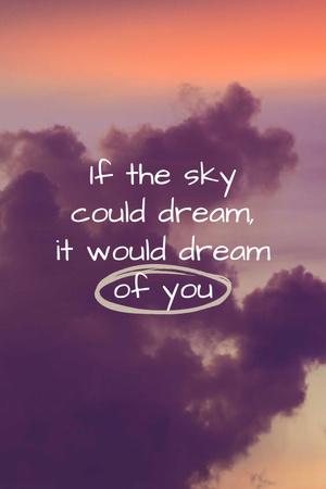 Dream Quote on sunset Sky Pinterest Design Template