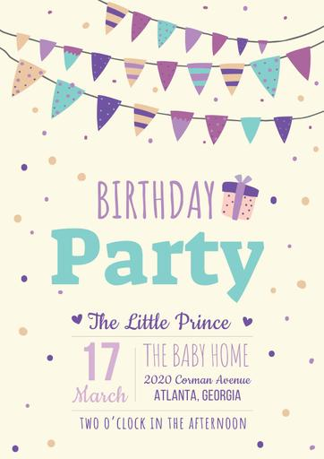 Birthday Party Bright Invitation
