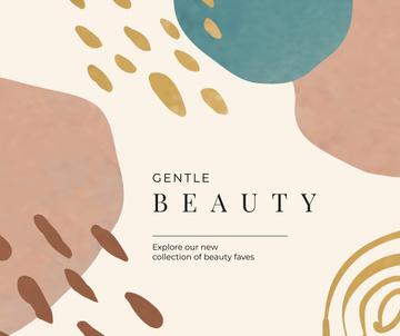 Beauty brand promotion on pastel pattern