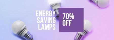 Energy Saving Lamps sale Tumblr Design Template