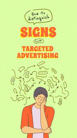 Designvorlage Joke about Targeted Advertising für Instagram Video Story