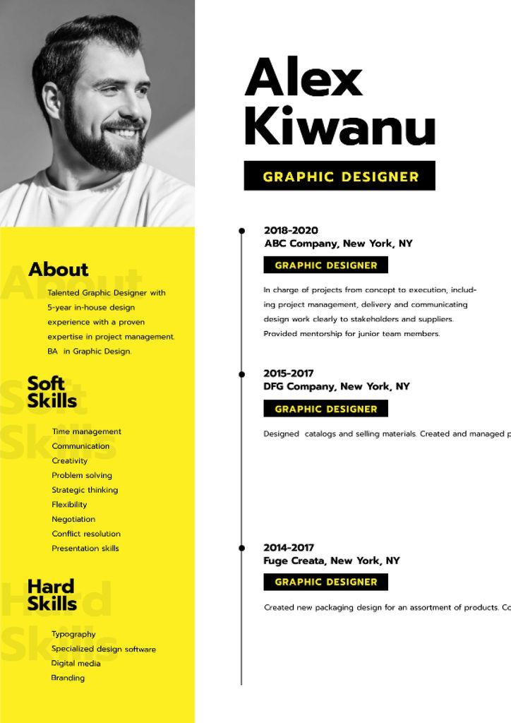 Professional Designer skills and experience Resumeデザインテンプレート