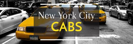 Modèle de visuel Taxi Cars in New York - Email header