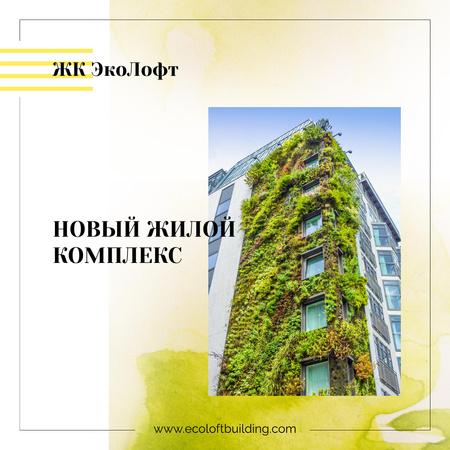 Plants growing on building wall Instagram AD – шаблон для дизайна