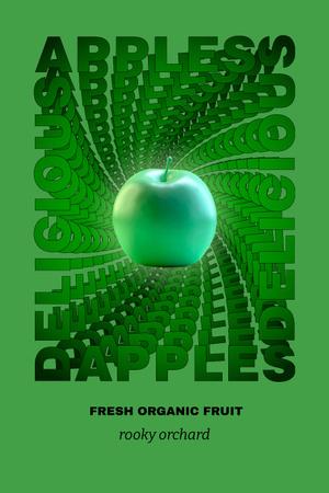 Plantilla de diseño de Funny Illustration of Glowing Apple Pinterest