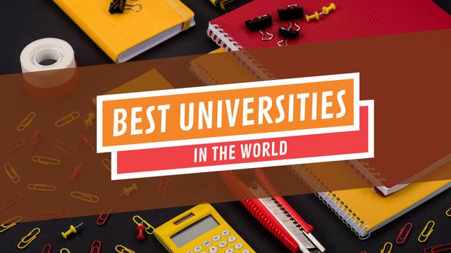 University Ad School Stationery on Table Youtube Thumbnail Modelo de Design
