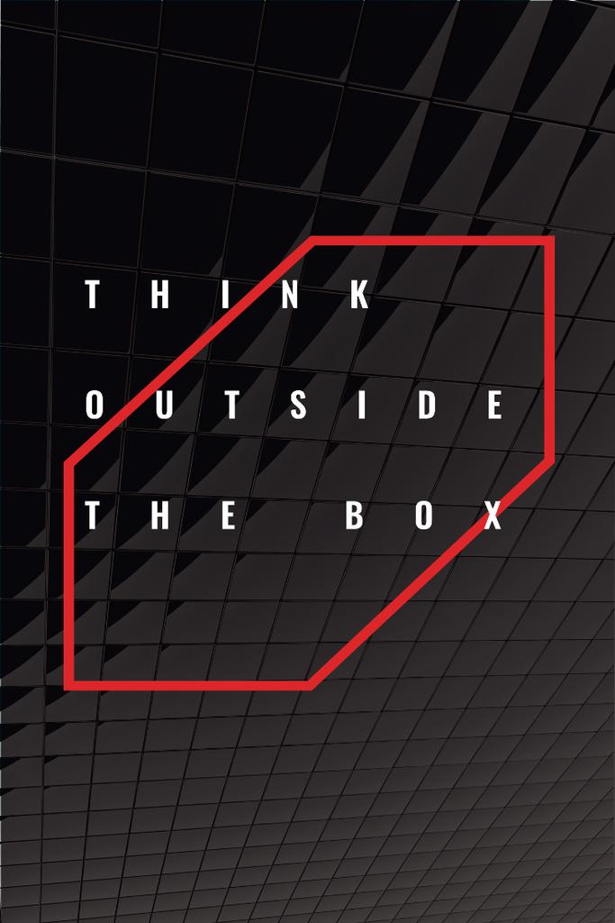 Think outside the box citation — Создать дизайн