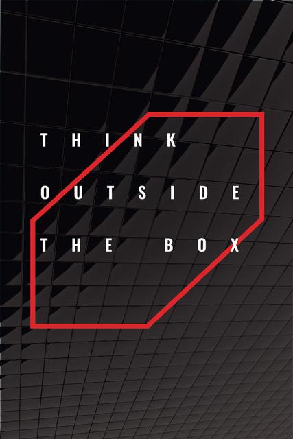 Inspirational citation on Dark Glass Texture Pinterest Design Template