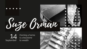 Event Ad with Stairs in Black and White