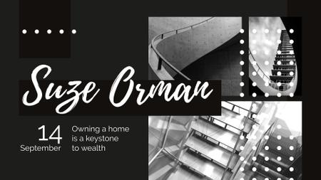 Event Ad with Stairs in Black and White FB event cover Modelo de Design