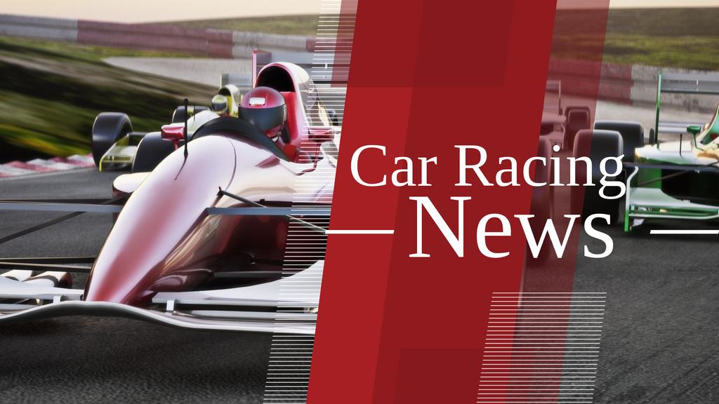 Car racing news Ad Youtube – шаблон для дизайна