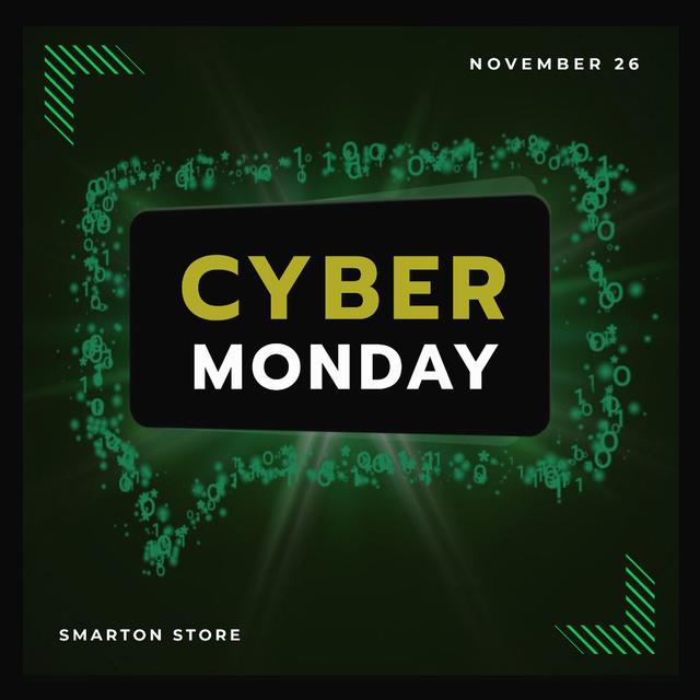 Plantilla de diseño de Cyber Monday in Message bubble frame Animated Post