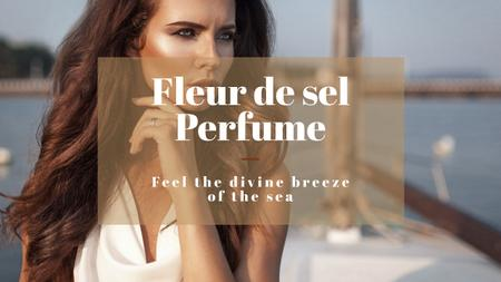 Template di design New perfume advertisement with Beautiful Young Woman Youtube