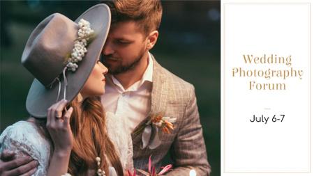 Wedding Photography Forum with Tender Couple FB event cover – шаблон для дизайну