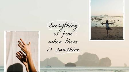 Modèle de visuel Summer Inspiration with Girl on Seacoast - Youtube Thumbnail