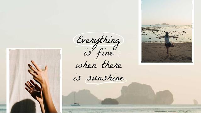 Plantilla de diseño de Summer Inspiration with Girl on Seacoast Youtube Thumbnail