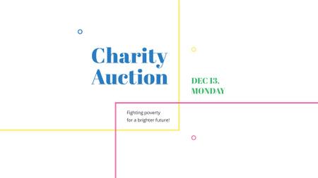 Ontwerpsjabloon van FB event cover van Charity Event Announcement