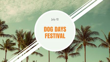 Plantilla de diseño de Dog Days Festival Announcement FB event cover