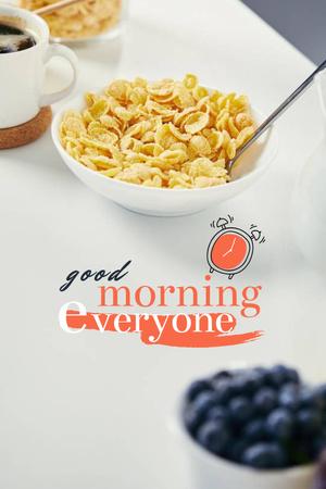 Breakfast with Fresh Cereals Pinterest – шаблон для дизайна