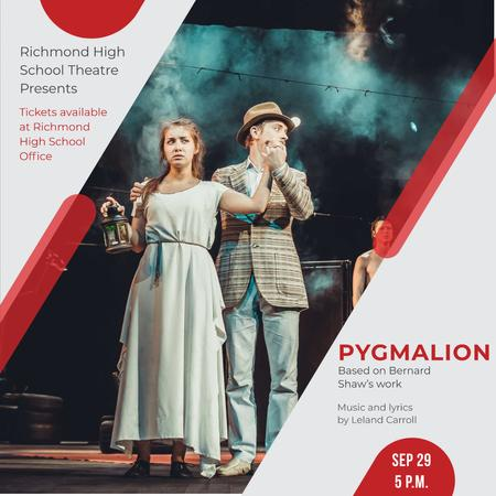 Pygmalion Performance with Actors on Stage Instagramデザインテンプレート