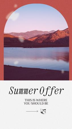 Summer Travel Offer with Mountain Lake Instagram Storyデザインテンプレート